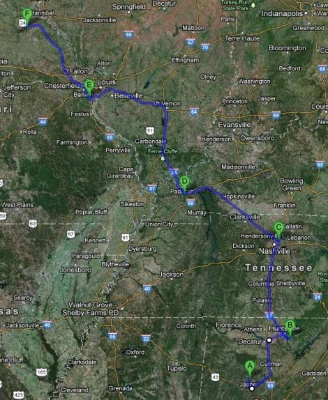 Route Jasper-Monroe City