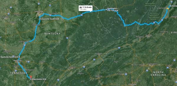 Trip VA-TN